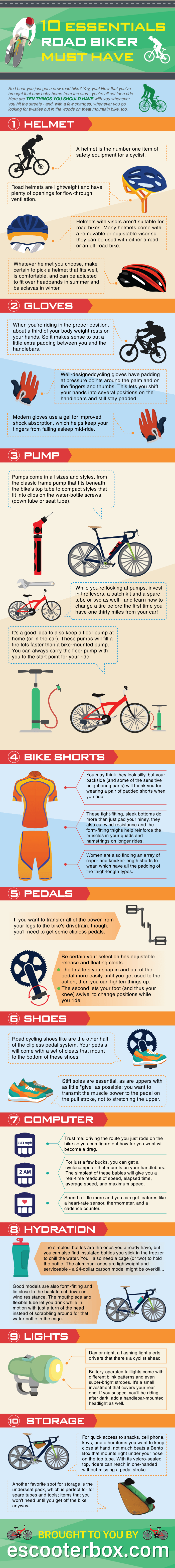 10 essential things must have for bikers