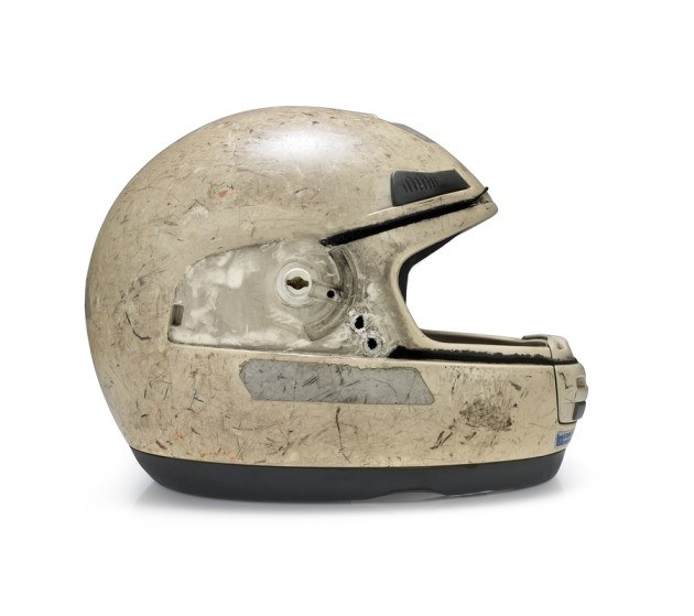 helmet crashed